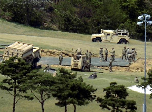 Hàn Quốc quyết định triển khai đầy đủ hệ thống phòng thủ khu vực tầm cao đoạn cuối (THAAD). Ảnh: Epochtimes.