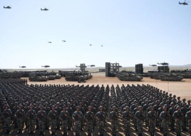 12.000 binh sĩ quân đội Trung Quốc tham gia Lễ duyệt binh. Ảnh: Tân Hoa xã