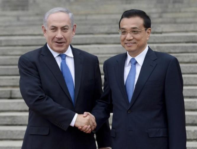 Thủ tướng Lý Khắc Cường và Thủ tướng Israel Benjamin Netanyahu. Ảnh: Cankao.
