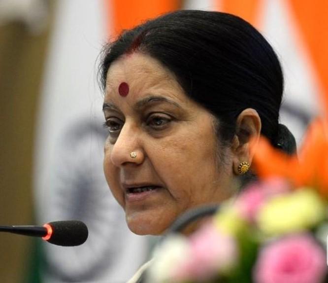 Ngoại trưởng Ấn Độ Sushma Swaraj. Ảnh: Tân Hoa xã.