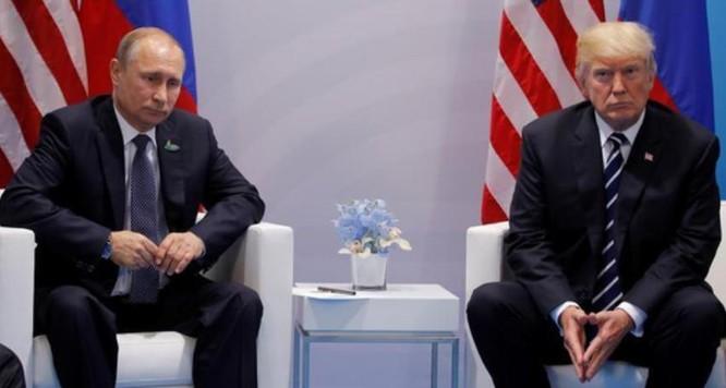 Tổng thống Nga Vladimir Putin và Tổng thống Mỹ Donald Trump.