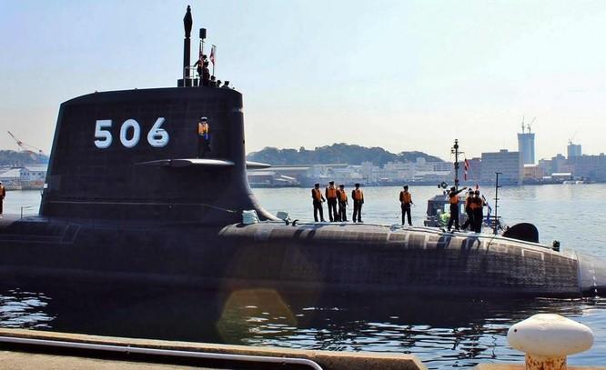 Tàu ngầm thông thường AIP lớp Soryu của Lực lượng Phòng vệ Biển Nhật Bản. Ảnh: Thời báo Hoàn Cầu.