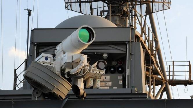 Pháo laser trang bị cho tàu USS Ponce, Hải quân Mỹ.