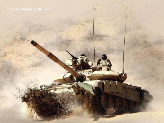 Xe tăng T-90S của Lục quân Ấn Độ.