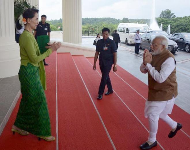 Thủ tướng Ấn Độ Narendra Modi thăm Myanmar. Ảnh: NDTV.