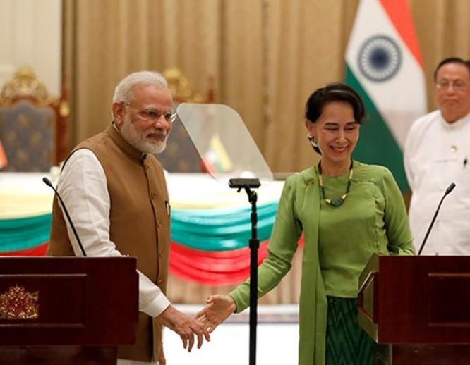 Thủ tướng Ấn Độ Narendra Modi thăm Myanmar. Ảnh: Youth