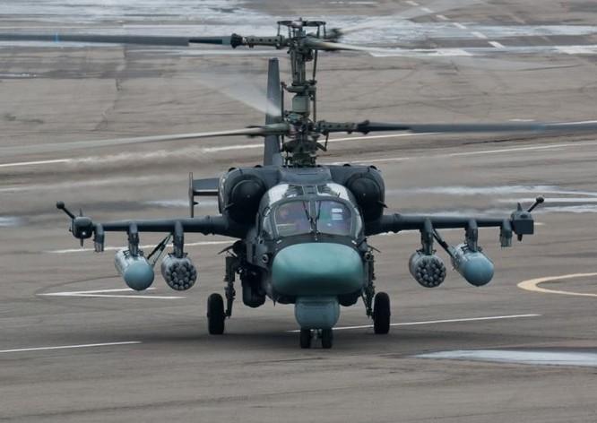 Máy bay trực thăng vũ trang Ka-52 Nga. Ảnh: Sina.
