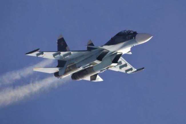 Máy bay chiến đấu Su-30 Nga. Ảnh: Sina.