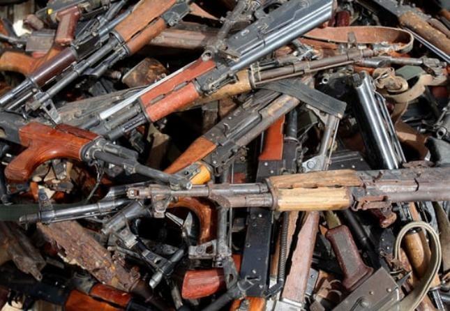 Những vũ khí bị bắt giữ đã phản ánh