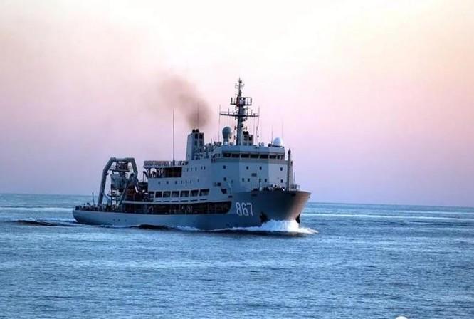 Tàu cứu hộ tàu ngầm Trường Đảo, Hải quân Trung Quốc. Ảnh: Sina.