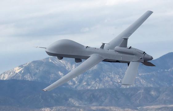 Máy bay do thám kiêm tấn công MQ-9M do Mỹ sản xuất. Ảnh: Aviation International News.
