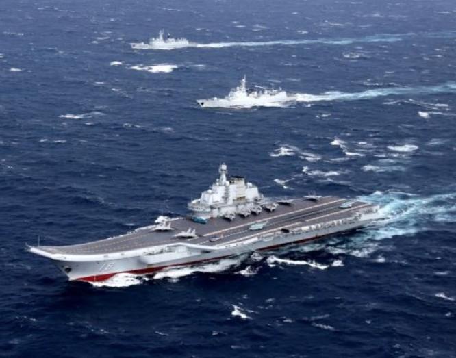 Biên đội tàu sân bay Liêu Ninh, Hải quân Trung Quốc. Ảnh: Thời báo Tự do Đài Loan.