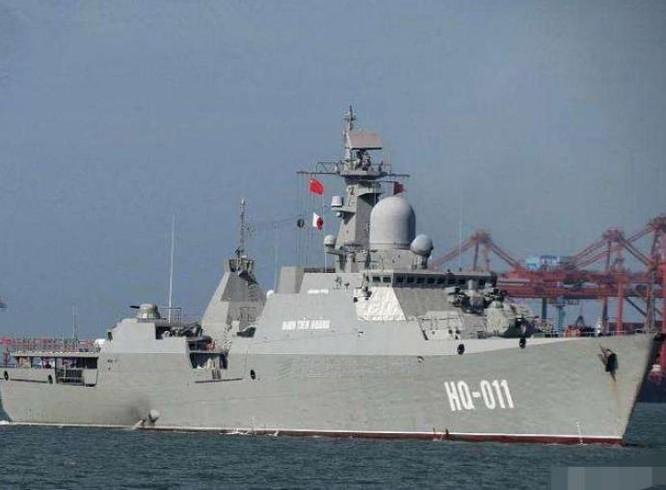 Tàu hộ vệ HQ-011 Đinh Tiên Hoàng của Hải quân Việt Nam. Ảnh: Sina.