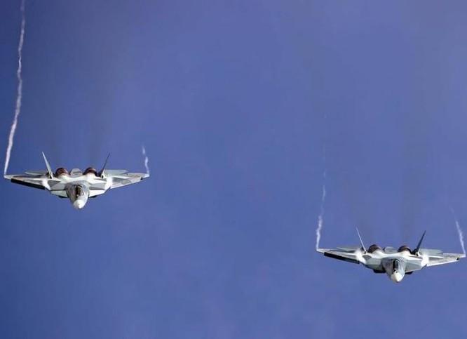 Máy bay chiến đấu tàng hình Su-57 Nga. ảnh: Sina.