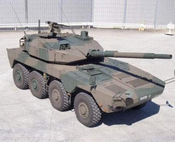 Xe đột kích bánh lốp Type 16 Lực lượng Phòng vệ Mặt đất Nhật Bản. Ảnh: Cankao.