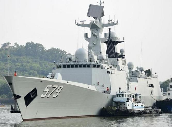Tàu hộ vệ tên lửa Hàm Đan Type 054A, Hạm đội Bắc Hải, hải quân Trung Quốc. Ảnh: Huanqiu.