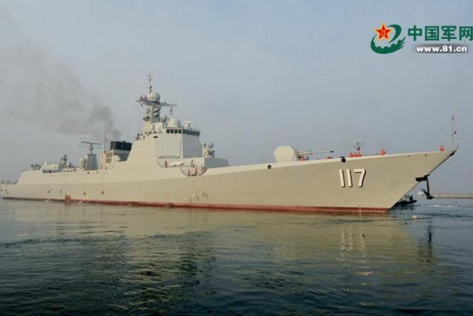 Tàu khu trục Tây Ninh số hiệu 117 Type 052D, Hạm đội Bắc Hải, hải quân Trung Quốc. Ảnh: Huanqiu.