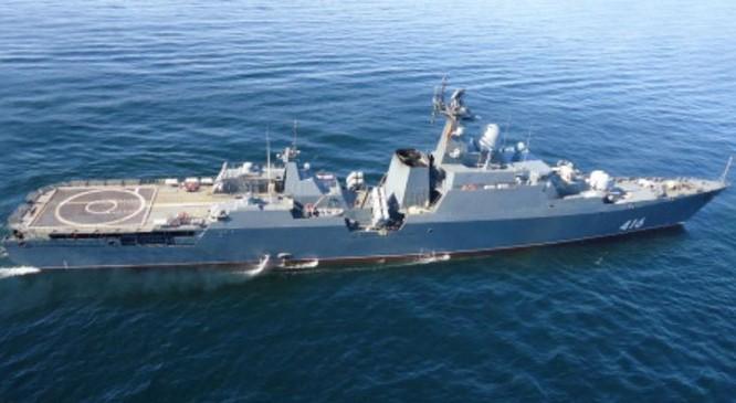 Tàu hộ vệ lớp Gepard 3.9. Ảnh: Chinanews.
