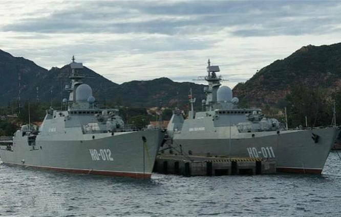 Hai tàu hộ vệ lớp Gepard 3.9 của Hải quân Việt Nam. Ảnh: Sohu.