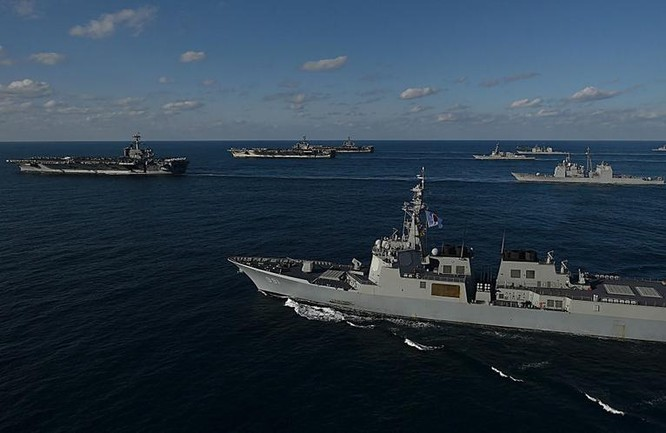 Ba cụm tấn công tàu sân bay Mỹ. Ảnh: Getty Images.