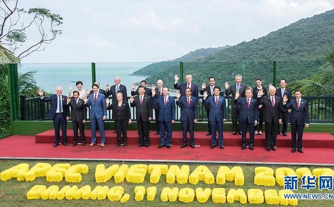 Nhà lãnh đạo các nước thành viên APEC tại Đà Nẵng, Việt Nam. Ảnh: Xinhuanet.