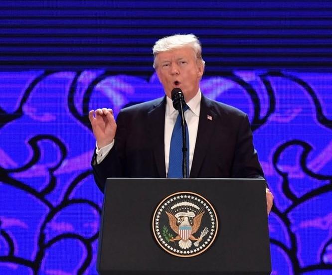 Tại Hội nghị Thượng đỉnh doanh nghiệp APEC 2017 ngày 10/11/2017, Tổng thống Mỹ Donald Trump đã ca ngợi thành tích học tập của sinh viên Việt Nam tại Mỹ. Ảnh: Dwnews.