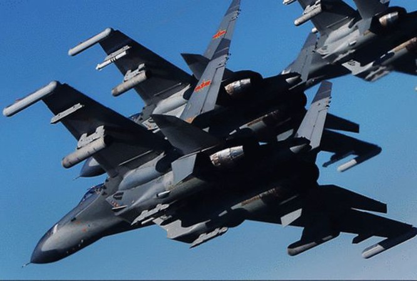 Máy bay chiến đấu J-11 Trung Quốc. Ảnh: Sohu.