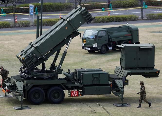 Hệ thống tên lửa phòng không Patriot-3 Nhật Bản, mua của Mỹ. Ảnh: Reuters.
