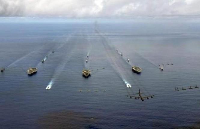 Ba cụm tấn công tàu sân bay Mỹ. Ảnh: Sina.