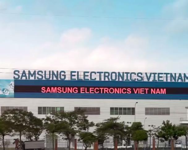 Nhà máy của hãng Samsung Hàn Quốc tại Việt Nam. Ảnh: Sohu.
