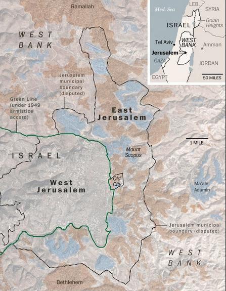 Khu vực thánh địa Jerusalem. Ảnh: Washington Post.