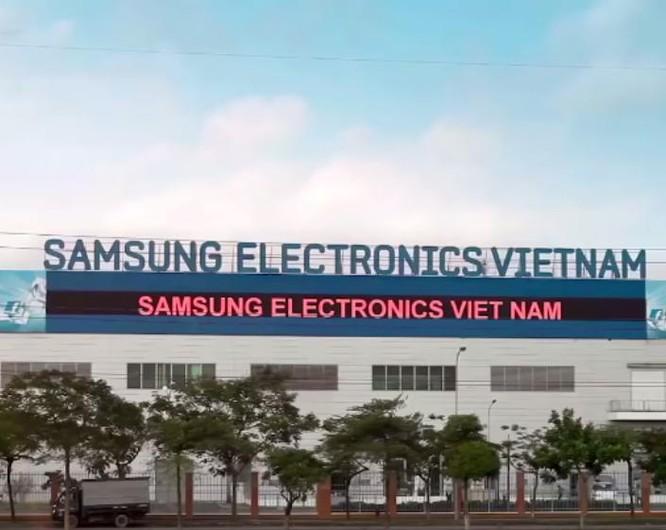 Nhà máy Samsung của hãng Samsung Hàn Quốc tại tỉnh Bắc Ninh, Việt Nam.