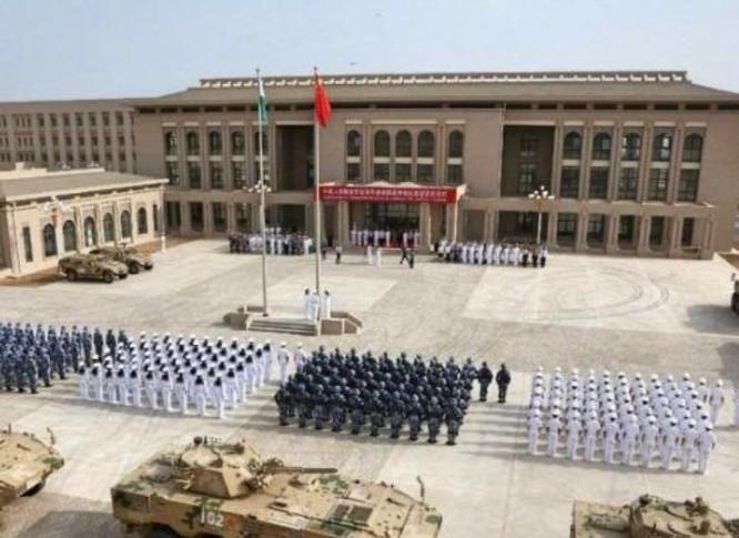 Lễ khánh thành căn cứ bảo đảm quân sự đầu tiên của Trung Quốc ở nước ngoài - Djibouti. Ảnh: Cankao.