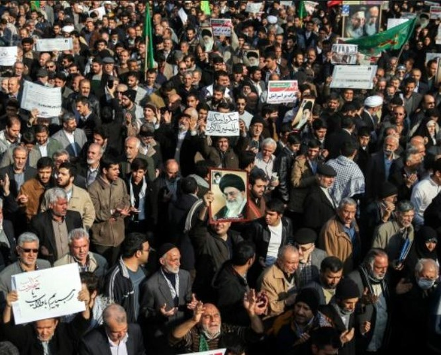Biểu tình ở Iran. Ảnh: Liberty Times Net