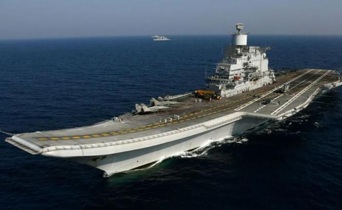 Tàu sân bay INS Vikramaditya, hải quân Ấn Độ. Ảnh: NDTV.