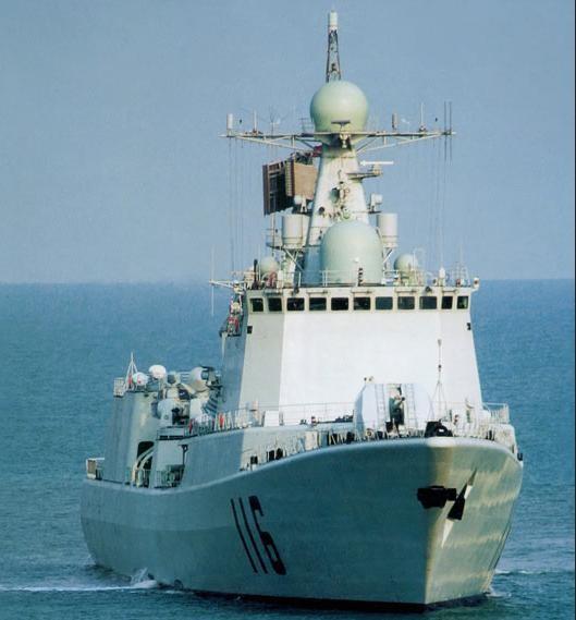 Tàu khu trục Thạch Gia Trang số hiệu 116 Type 051C, Hạm đội Bắc Hải, hải quân Trung Quốc. Ảnh: Sina.