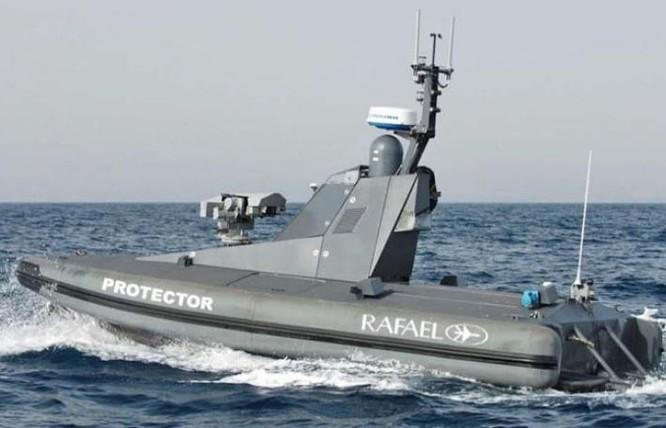 Tàu không người lái Protector của Israel. Ảnh: Qianlong.