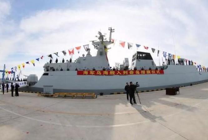Sáng ngày 15/1/2018, Hạm đội Bắc Hải, hải quân Trung Quốc biên chế tàu hộ vệ hạng nhẹ Ô Hải số hiệu 540 Type 056. Ảnh: Sina.