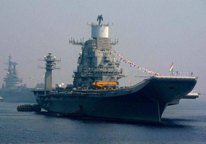 Tàu sân bay INS Vikramaditya, hải quân Ấn Độ. Ảnh:The Indian Express.