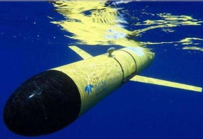 Phương tiện không người lái hoạt động dưới nước Slocum glider của Mỹ. Ảnh: Sina.
