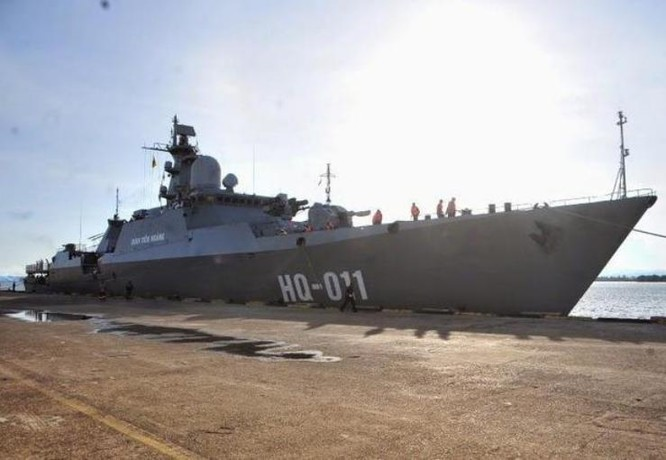 Tàu hộ vệ HQ-011 Đinh Tiên Hoàng lớp Gepard 3.9 của Hải quân Việt Nam. Ảnh: Sohu.
