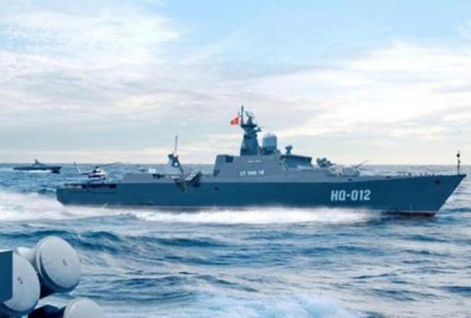 Tàu hộ vệ HQ-012 Lý Thái Tổ lớp Gepard 3.9 của hải quân Việt Nam. Ảnh: Sohu.