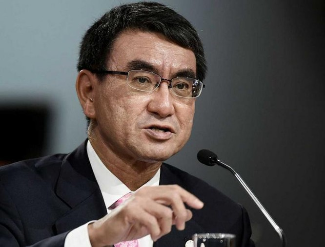 Ngoại trưởng Nhật Bản Taro Kono đánh giá cao chính sách hạt nhân mới của Mỹ. Ảnh: VCG/Dwnews.