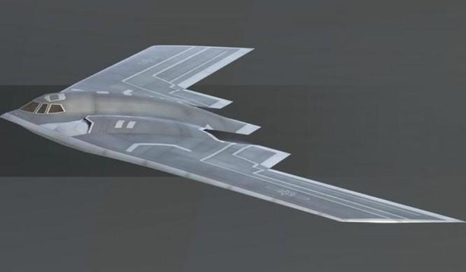 Hình ảnh tưởng tượng về máy bay ném bom tàng hình thế hệ mới B-21 của Mỹ. Ảnh: QQ.