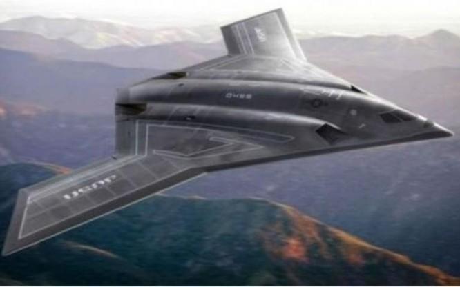 Hình ảnh tưởng tượng về máy bay ném bom tàng hình thế hệ mới B-21 của Mỹ. Ảnh: Sohu.