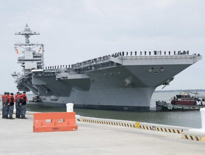 Tàu sân bay động cơ hạt nhân thế hệ mới USS Gerald Ford Mỹ. Ảnh: Sofrep News.
