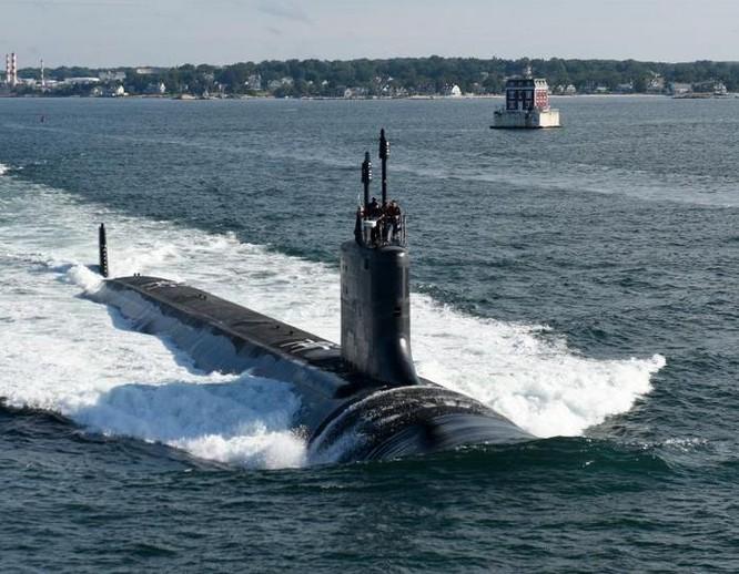 Tàu ngầm hạt nhân tấn công lớp Virginia hải quân Mỹ. Ảnh: Naval Today.