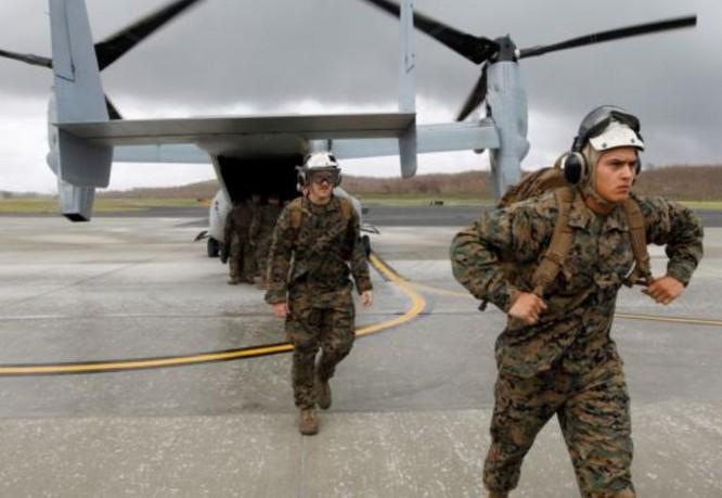 Binh sĩ các đơn vị viễn chinh của thủy quân lục chiến Mỹ. Ảnh: Reuters.