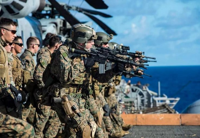 Lực lượng viễn chinh của thủy quân lục chiến Mỹ. Ảnh: Sina.