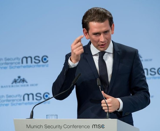 Thủ tướng Áo Sebastian Kurz tại Hội nghị an ninh Munich. Ảnh: Securityconference.